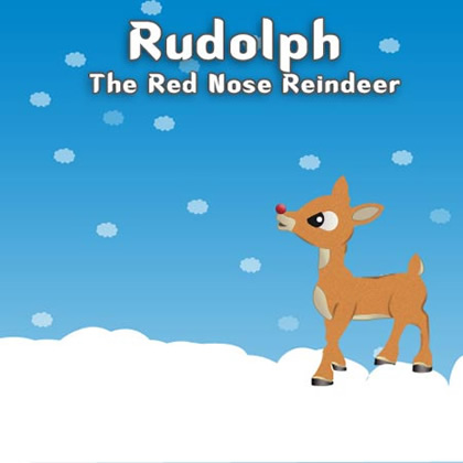 Rudolph the Red Nosed Reindeer Photoshop Tutorial