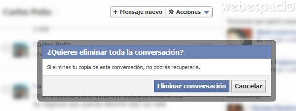 quieres eliminar conversacion