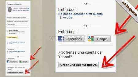 Crear correo Yahoo