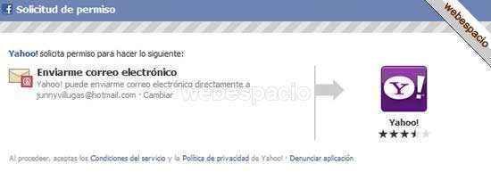crear yahoo mail con tu cuenta de facebook