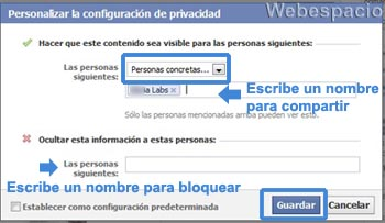 privacidad en el muro de facebook