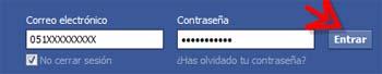 Iniciar sesión  Facebook con número móvil