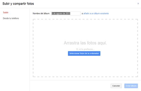 subir y compartir fotos en Google+