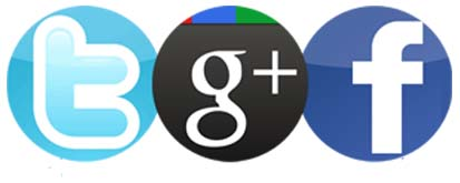Google+, Twitter  y Facebook