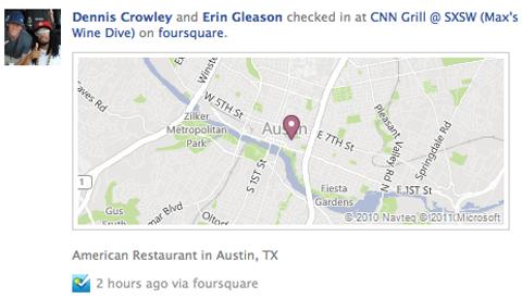 Foursquare actualiza aplicación para la Biografía (Timeline) de Facebook