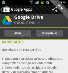abrir drive android