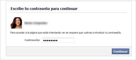 formulario  eliminar una cuenta de Facebook