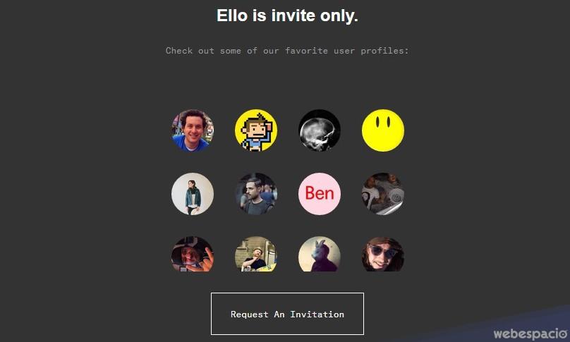 """Invitaciones gratis para la red social """"Ello"""""""